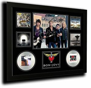 BON JOVI SIGNED LIMITED EDITION FRAMED MEMORABILIA