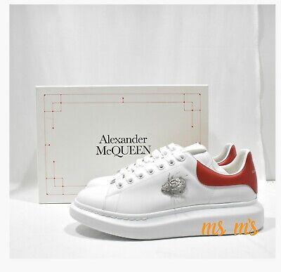 NIB Alexander McQueen JEWELED 3D BEETLE Larry Ornament Platform Sneakers EU44