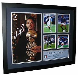 Roberto Baggio Signed Italy World Cup Photo Framed - Memorabilia - Ltd Edition