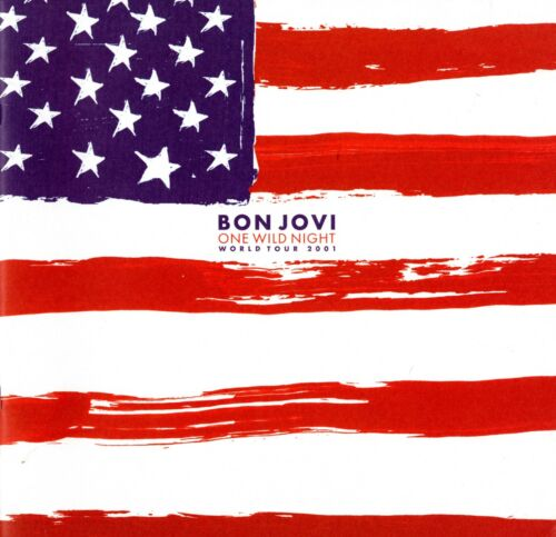 BON JOVI 2001 ONE WILD NIGHT TOUR CONCERT PROGRAM TOUR BOOK-SAMBORA-NMT TO MNT