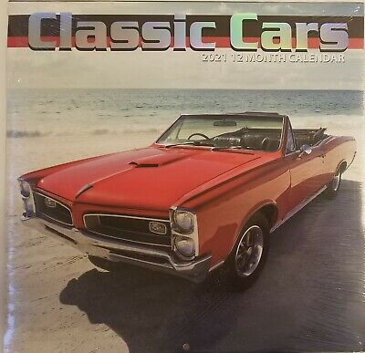 "2021 Classic Cars Wall Calendar 12"" x 12"""