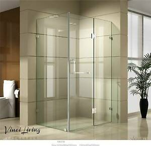Shower Screen Bathroom Enclosure Frameless Glass 900 or 1200/900 Underwood Logan Area Preview