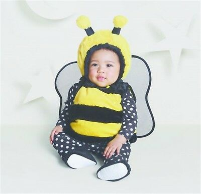 Hyde & Eek Baby Costume Halloween Bumble Bee Vest Wings Booties Size 6/12 Months - Bumble Bee Halloween Costume 12 Month