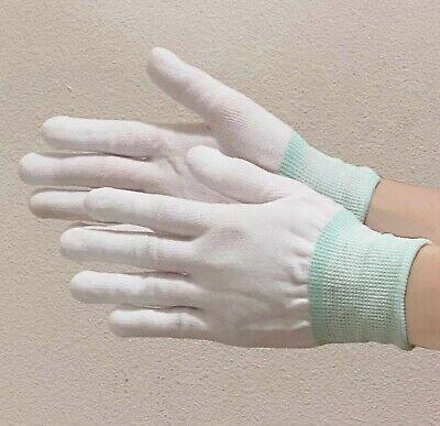 2 Pair White Cotton Gloves High Quality Sz Small