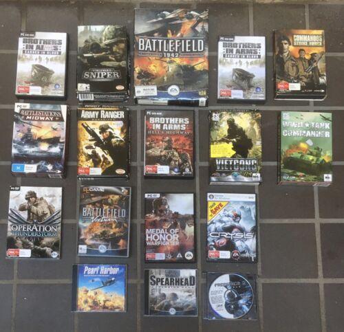 Computer Games - BULK LOT War Computer Games Battle Shooter Combat Collection