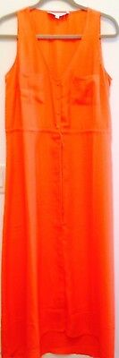 Giuliana Rancic Button Front Maxi Tangerine M New
