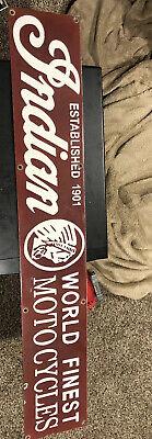 Indian Motorcycles Patina Vintage Gas Oil Beer Advertising Vintage