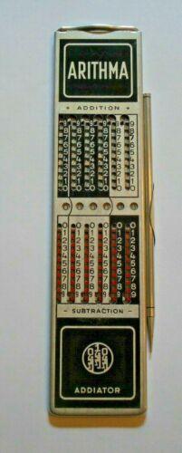 Vintage Addiator Arithma German Made Calculator with Stylus.