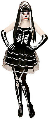 Skelett Lady Halloweenkostüm NEU - Damen Karneval Fasching Verkleidung Kostüm