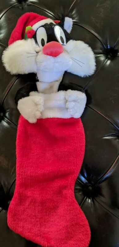 Vintage Sylvester The Cat Warner Brothers Christmas  Holiday Stocking