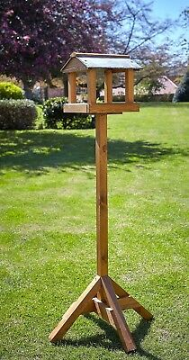 Wooden Baby Ryedale Wild Bird Table by Tom Chambers - Wood Garden Bird Table