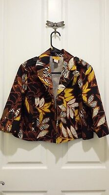 Women's Ruby Road Cover Up Jacket Size 4 P