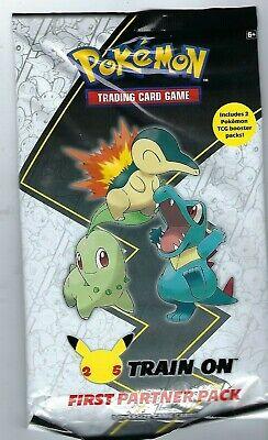 Pokemon First Partner PACK 3 Jumbo JOHTO Card+2 Booster 25th