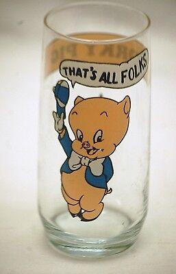 Porky Pig Advertising Drinking Glass 1966 Looney Tunes Animation Art Warner Bros
