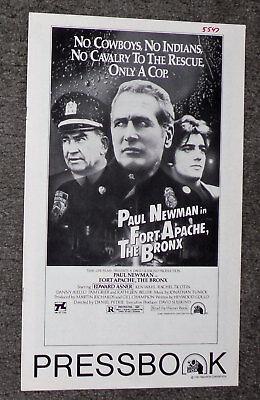 FORT APACHE THE BRONX original 1981 movie pressbook PAUL NEWMAN/KEN WAHL