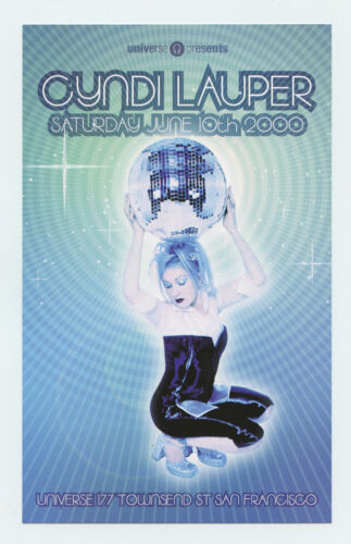 Cyndi Lauper Flyer 2000 Jun 10 San Francisco