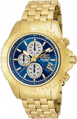 18855 Invicta Men's 47mm Aviator Maverick Quartz Chronograph SS Bracelet Watch