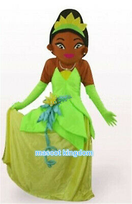 Princess Tiana Mascot Costume Carnival Festival Party Character Dress Adult Size](Adult Princess Tiana Costume)