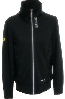 Women's PUMA FERRARI Black Full Zip Jacket Size XL XLarge