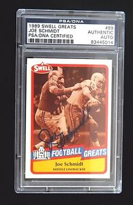 1989-SWELL-GREATS-89-HOF-JOE-SCHMIDT-PSA-DNA-SIGNED-AUTO-POP-7-HALL-OF-FAME