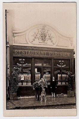 PARIS ? Restaurant Parisien / Bière La Champenoise * Foto-AK um 1910 Carte Photo (Restaurant, Cart)