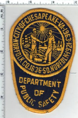City of Chesapeake Police (Virginia) Uniform Take-Off Shoulder Patch Early 1980s