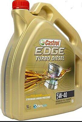 aceite de motor castrol edge titanium turbo diesel 5W40 5L