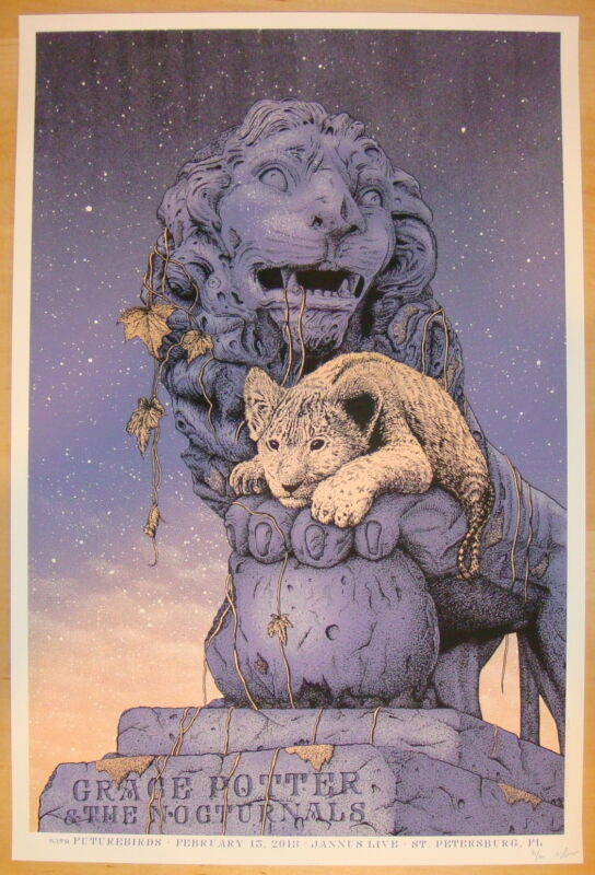 2013 Grace Potter & the Nocturnals - Silkscreen Concert Poster by Williams S/N