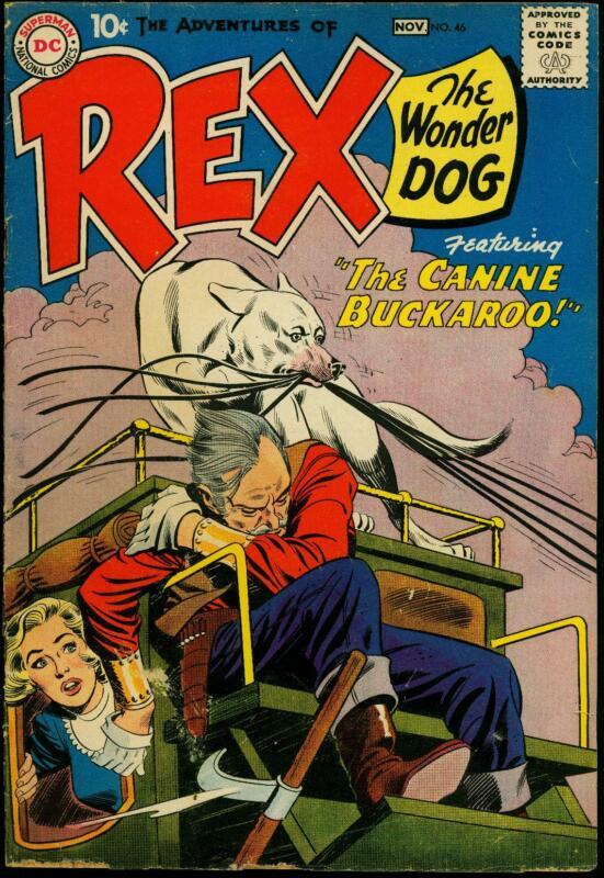 Adventures of Rex the Wonder Dog #46 1959- Detective Chimp G/VG
