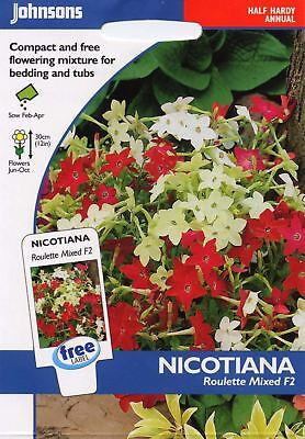 Mr Fothergills Flower 1000 Seeds Pictorial Packet Nicotiana Lime Green