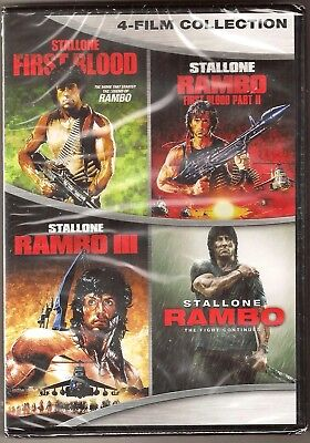 Rambo Collection 1, 2, 3 & 4 - DVD 4-Movie Set Sylvestor Stallone BRAND NEW