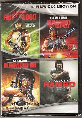Rambo Collection 1, 2, 3 & 4 - DVD 4-Movie Set Sylvestor Stallone BRAND - Historical Halloween Movies
