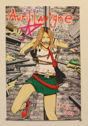 AVRIL LAVIGNE signed #63/100 11x17 art print 2003 - Anthony Herrera! #MeToo