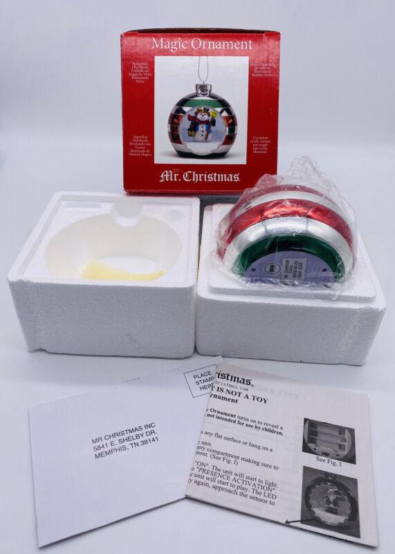 Mr. Christmas Magic Ornament Mirrored Illuminated Snowman New in Box