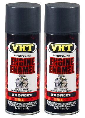 2 X VHT SP139 SATIN BLACK ENGINE ENAMEL PAINT
