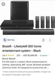 BOSE HOME THEATER 650 / 791 INCEILING/ SAF-5 AMP/ 251 OUTDOOR