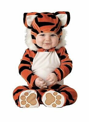 New  Tiger TOT Infant Costume Plush 6-12 Months 2 Pieces Jumpsuit And (Tiger Tot Kostüm)