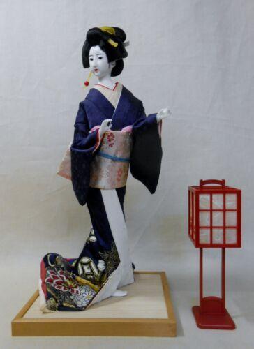 Japanese Vintage Kimono Geisha Doll 41cm / 行灯 ANDON Lamp