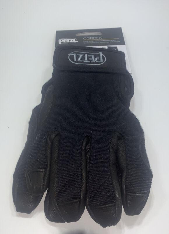 Petzl Cordex Plus K53 Gloves Climbing Rappelling Descending - BLACK / Medium