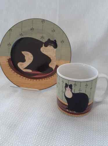Cat Collection Mug and Plate, Discontinued, Sakura Oneida