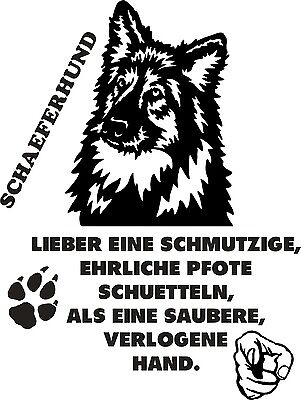 Schäferhund -Aufkleber  - Autoaufkleber  -Neu-