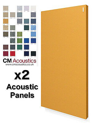 2 x CM Acoustics - Acoustic Panel 1200x600x60mm