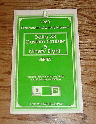 Original 1980 Oldsmobile Delta 88 Ninety-Eight Cruiser Owners Operators Manual -