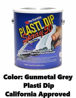 Performix Plasti Dip Spray 50 Gunmetal Grey Gallon Low Voc California Free Sh