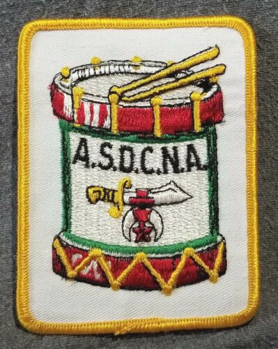 LMH PATCH Badge SHRINE TEMPLE Shriners ASDCNA Assn Drum Bugle Corps No America