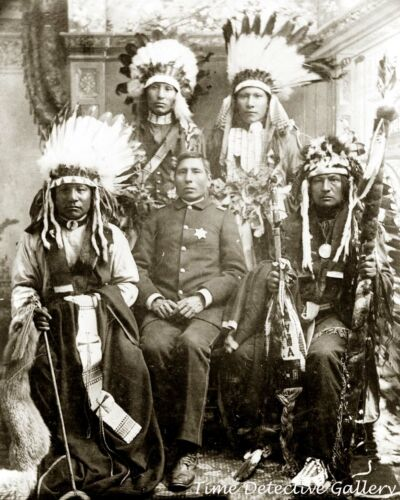 George Sword, Indian Police Chief, Pine Ridge, S. Dakota - Historic Photo Print