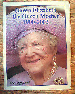 Old Newspaper Supplement - Queen Mother Tribute - East Anglian Daily Times