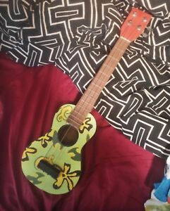 Handcrafted and hand-painted working ukulele