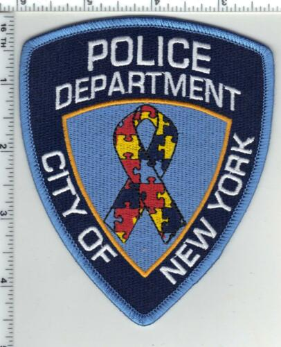 Autism Awareness New York City Police Shoulder Patch may wear in April Version 2