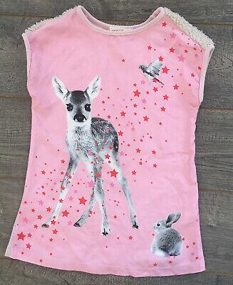 EUC Anne Kurris Silk Pink Deer & Faux Fur Couture Dress